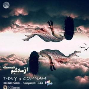 T Day Ft Gomnam Az Sadegim Nist 300x300 - متن آهنگ جدید از سادگیم نیست محمد تی دی